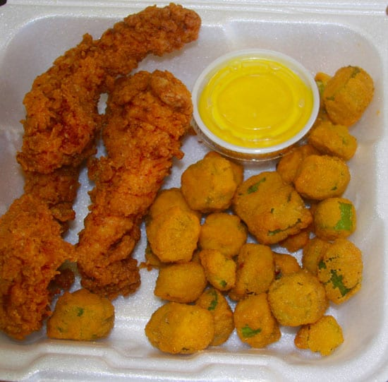 Fried Chicken and Okra